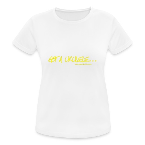 Official Got A Ukulele website t shirt design - Women's Breathable T-Shirt