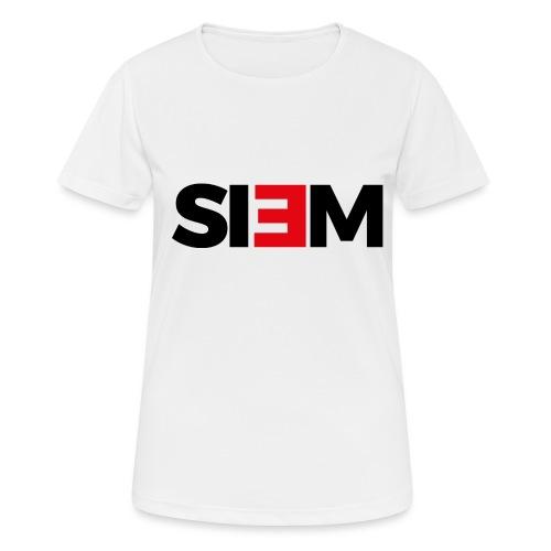 siem_zwart - Vrouwen T-shirt ademend actief