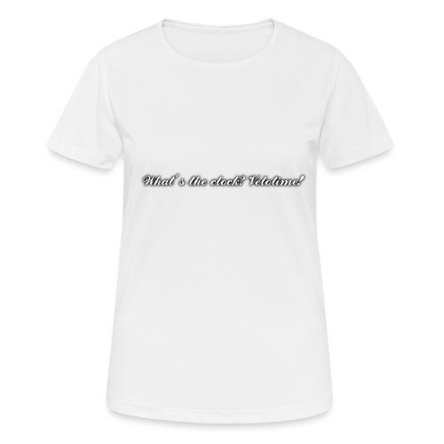 Velotime motto - Andningsaktiv T-shirt dam