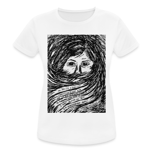 Like a Hurricane Artwork | Black Edition - Maglietta da donna traspirante