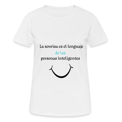 Sonrisa - Camiseta mujer transpirable