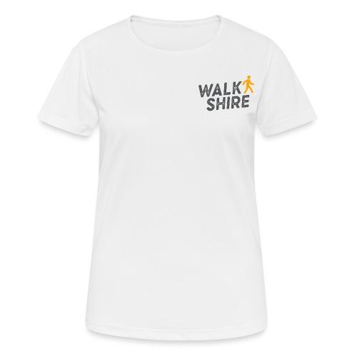 Walkshire logo orange person - Women's Breathable T-Shirt