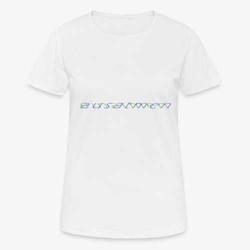 atmen Grün-Blau (m) - Frauen T-Shirt atmungsaktiv