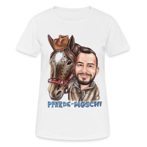 Pferde-Hoschi Kollektion hinten - Frauen T-Shirt atmungsaktiv
