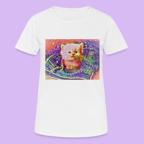Gattino scintillante nella tasca dei jeans - Maglietta da donna traspirante