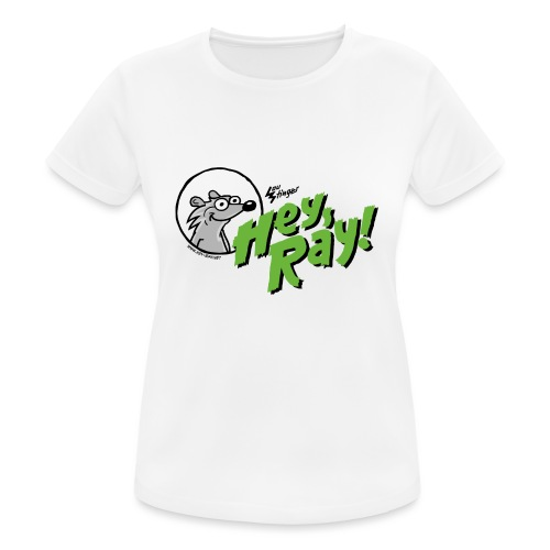 Hey Ray Logo green - Frauen T-Shirt atmungsaktiv
