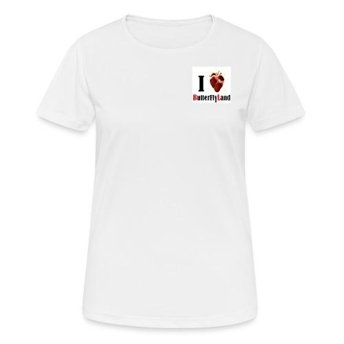 I love Butterflyland - T-shirt respirant Femme