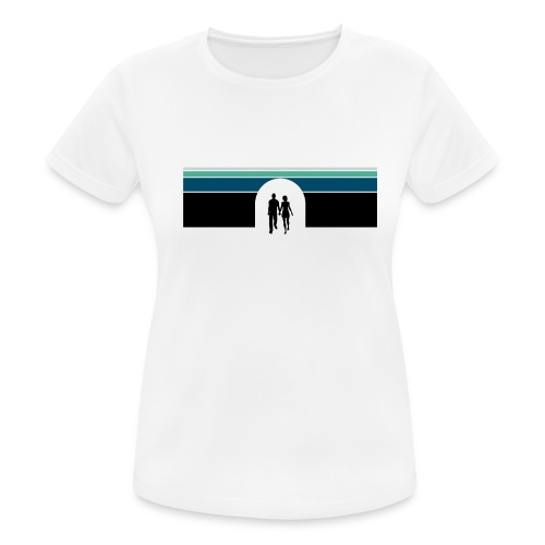 Couple in tunnel cool - Dame T-shirt svedtransporterende