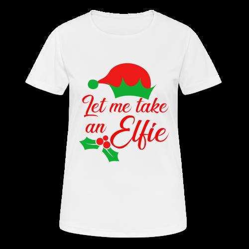 Weihnachten | Elf Mütze Weihnachtself Wortspiel - Frauen T-Shirt atmungsaktiv