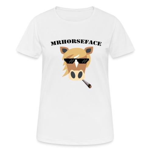 MrHorseFace - Vrouwen T-shirt ademend actief