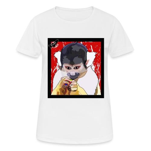 'Clever Monkey 2' by BlackenedMoonArts, w. logo - Dame T-shirt svedtransporterende