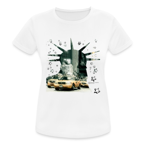 NYC - Lady liberty and the yellow cabs - Frauen T-Shirt atmungsaktiv