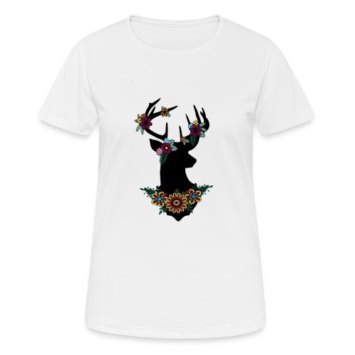 Bloemen ree - Vrouwen T-shirt ademend actief