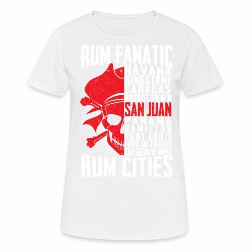 T-shirt Rum Fanatic - San Juan, Puerto Rico - Koszulka damska oddychająca