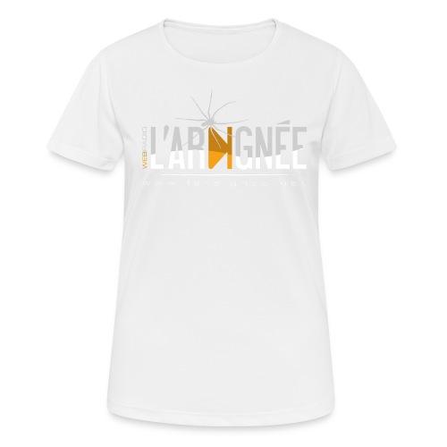 L'Araignée, le logo clair pour fond foncés - T-shirt respirant Femme