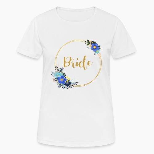 Bride - golden wreath / golden wreath - Women's Breathable T-Shirt