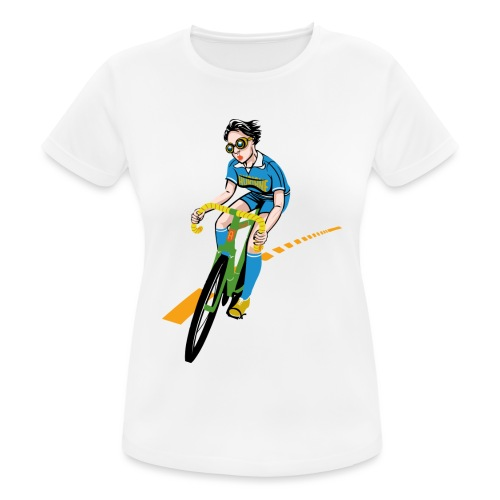 The Bicycle Girl - Frauen T-Shirt atmungsaktiv