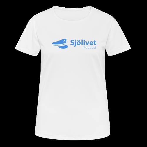 Sjölivet podcast - Svart logotyp - Andningsaktiv T-shirt dam