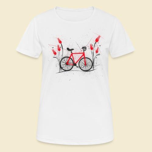Kunstrad | Flower Power 2 - Frauen T-Shirt atmungsaktiv