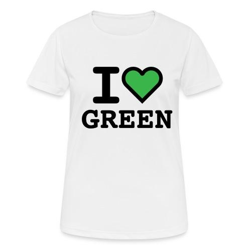 i-love-green-2.png - Maglietta da donna traspirante