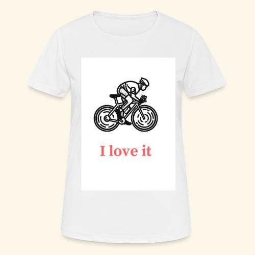 I love my bicycle - Koszulka damska oddychająca