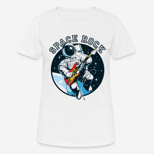 space astronaut rock - Frauen T-Shirt atmungsaktiv