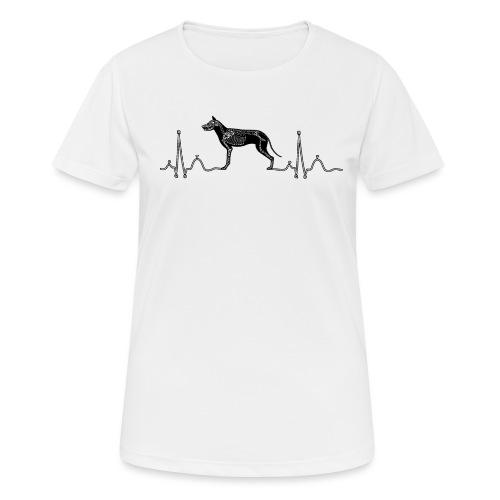 ECG met hond - Vrouwen T-shirt ademend actief