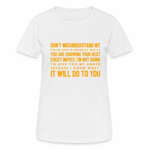 confidence - Dame T-shirt svedtransporterende