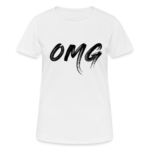 OMG, musta - naisten tekninen t-paita