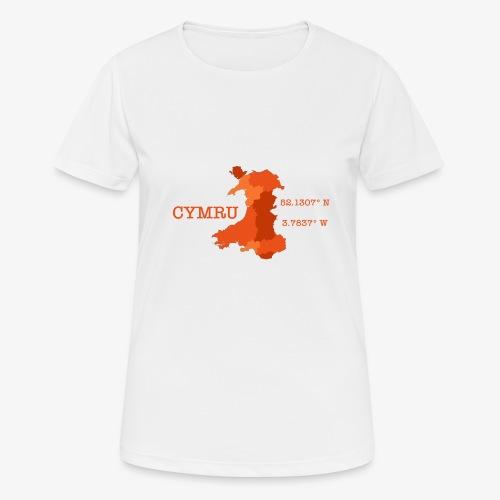Cymru - Latitude / Longitude - Women's Breathable T-Shirt