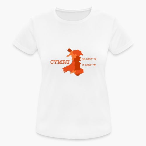 Cymru - Latitude / Longitude - Women's Breathable T-Shirt