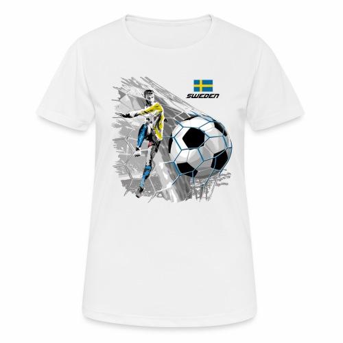 FP22F 16 SWEDEN FOOTBALL - naisten tekninen t-paita