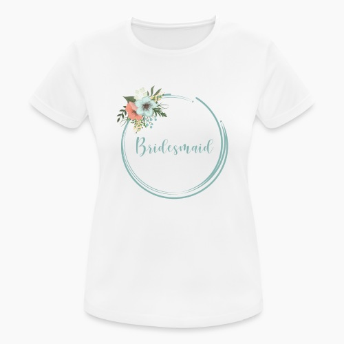 Bridesmaid - floral motif in blue - Women's Breathable T-Shirt