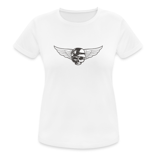 Biker skull - Women's Breathable T-Shirt