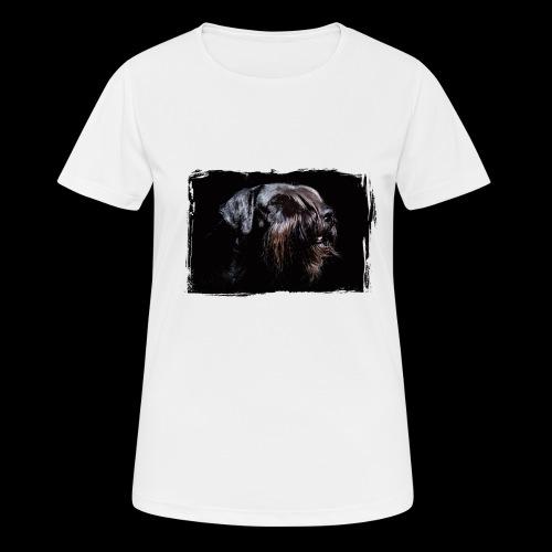 Schnauzerportrait - Frauen T-Shirt atmungsaktiv