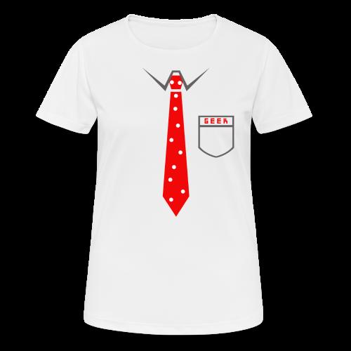 Geek | Schlips Krawatte Wissenschaft Streber - Frauen T-Shirt atmungsaktiv