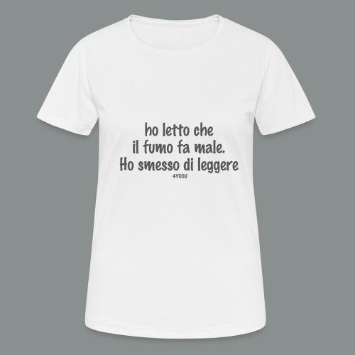hoSmesso - Maglietta da donna traspirante