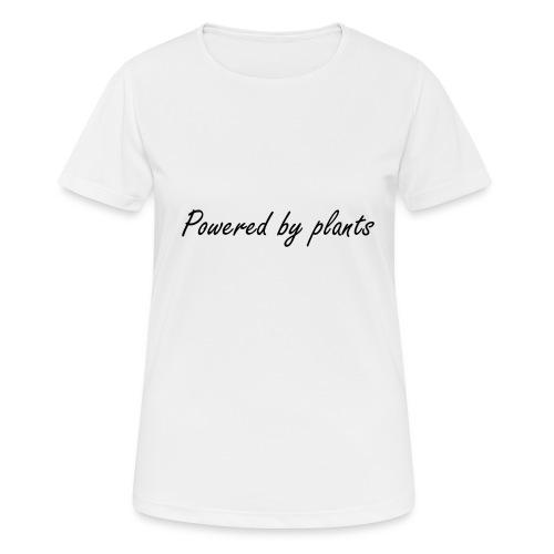 Powered by plants svart - Andningsaktiv T-shirt dam