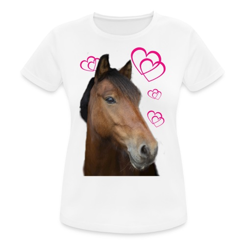 Hästälskare (Musse) - Andningsaktiv T-shirt dam