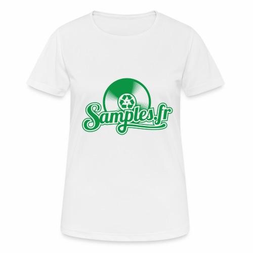 Samples.fr Vert - T-shirt respirant Femme