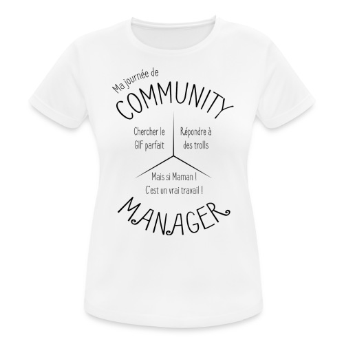 Le Design idéal pour le Community Manager - T-shirt respirant Femme