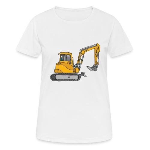 BAGGER, gelbe Baumaschine mit Schaufel und Ketten - Frauen T-Shirt atmungsaktiv