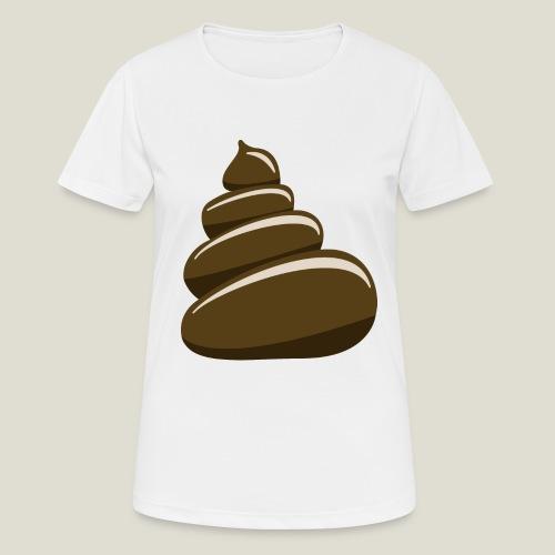 Bajskorv, Turd, Crap, Poop, Shit, Shite - Andningsaktiv T-shirt dam