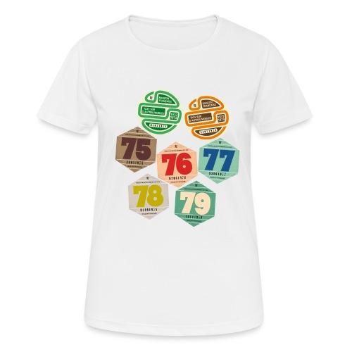 Vignettes automobiles années 70 - T-shirt respirant Femme