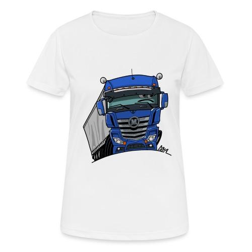 0807 M truck blauw trailer - Vrouwen T-shirt ademend actief
