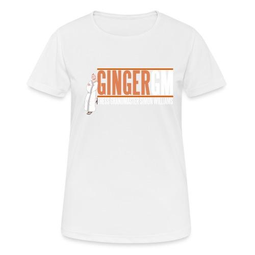 Ginger GM White Logo - Women's Breathable T-Shirt