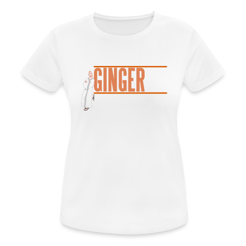 Ginger GM White Logo - Women's Breathable T-Shirt
