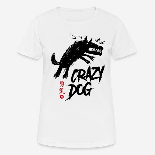 verrückter verrückter Hund - Frauen T-Shirt atmungsaktiv