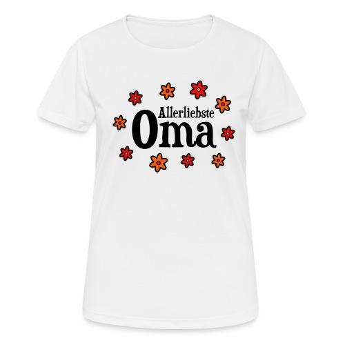 Allerliebste Oma Blumen Geschenk - Frauen T-Shirt atmungsaktiv