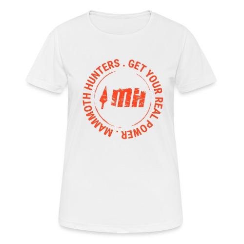 Mammoth Hunters / Círculo naranja - Camiseta mujer transpirable